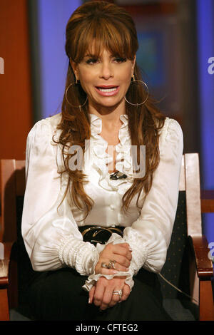 Jan 09, 2007; New York, NY, USA; Singer PAULA ABDUL during an interview with Fox & Friends Brian Kilmeade at Fox - Stock Photo