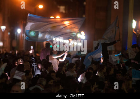 Sept. 13, 2012 - Buenos Aires, Buenos Aires, Argentina - Around 50000 people participated in a ''cacerolazo'', a - Stock Photo