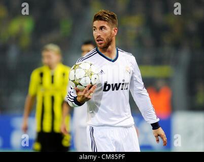 Dortmund, Germany. 24.10.2012,Football Champions League Group Phase 3rd matchday, Borussia Dortmund - Real Madrid) - Stock Photo