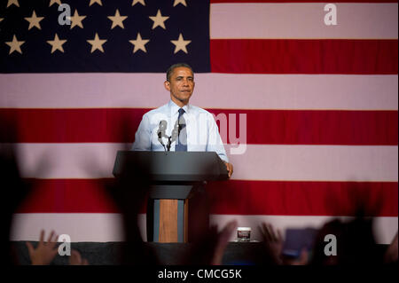 U.S. President Barack Obama makes a Texas campaign stop Tuesday night at the Austin Music Hall during the 2012 campaign - Stock Photo