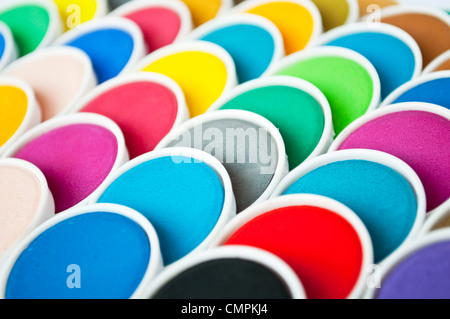 Abstract image of watercolor set - Stock Photo