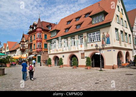 Marketplace in Haslach, baden-wurttemberg; , Germany - Stock Photo