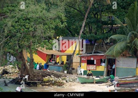 Jamaica Ochos Rios Slum - Stock Photo
