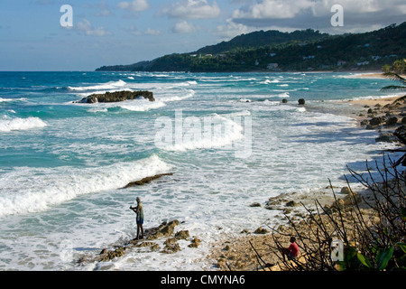 Jamaica Long bay at east coast - Stock Photo