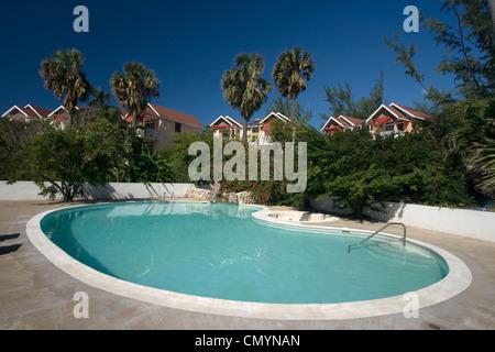 Jamaica Treasure beach resort pool - Stock Photo