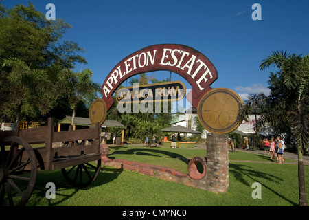 Jamaica Appleton Estate Jamaica Rum factory district St. Elisabeth - Stock Photo