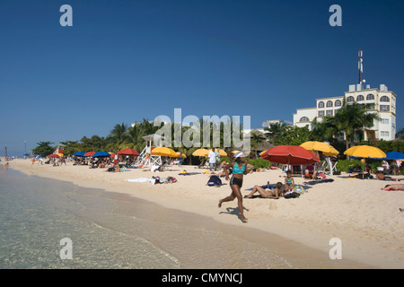 Jamaica Montego Bay beach Dr Caves beach - Stock Photo