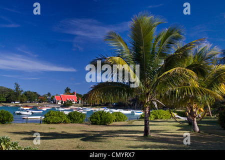 Eglise de Cap Malheureux, Mauritius, Africa - Stock Photo