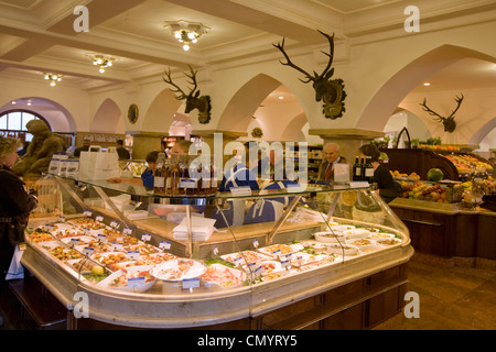Dahlmeier Delicatessen shop, Caviar, Munich, Germany - Stock Photo