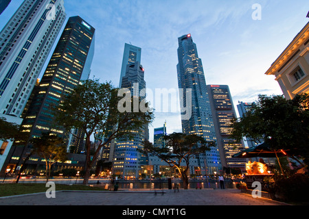 Asia singapur skyline panorama - Stock Photo