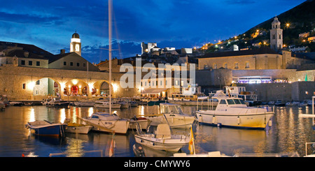 Dubrovnik harbour, Dominican Monastery, Old City of Dubrovnik, Croatia, Europe - Stock Photo