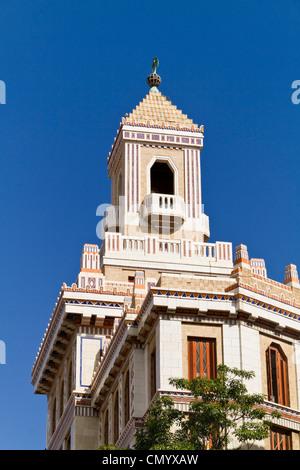Barcadi Tower, Havanna Vieja, Cuba, Greater Antilles, Antilles, Carribean, West Indies, Central America, North America, - Stock Photo