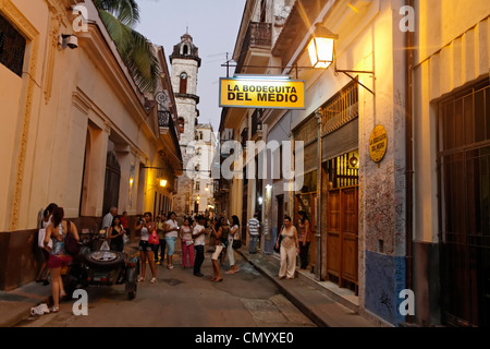 La Bodeguita del Medio, Havanna Viejo, Hemingways Bar in Havanna, Cuba, Greater Antilles, Antilles, Carribean, West - Stock Photo