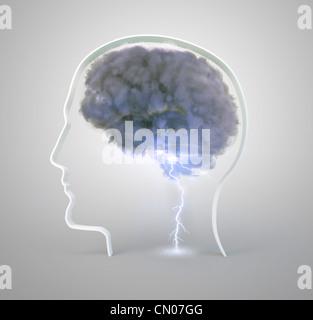 Brainstorming and creativity concept illustration - Stockfoto