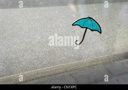 Window blind with umbrella design - Stock Photo