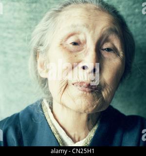 Senior Japanese woman, portrait - Stock Photo