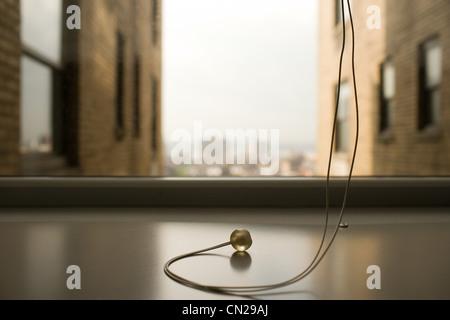 Window blind string - Stock Photo