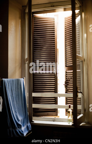 Window shutters and window - Stock Photo