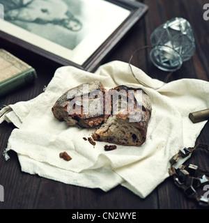 Bread and religious symbols - Stock Photo