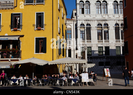 Italy, Venetia, Venice, listed as World Heritage by UNESCO, San Marco district, Campo San Stefano, Campo San Anzolo - Stock Photo