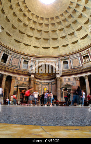 Italy Rome old town interior of Pantheon at Piazza della Rotanda - Stock Photo