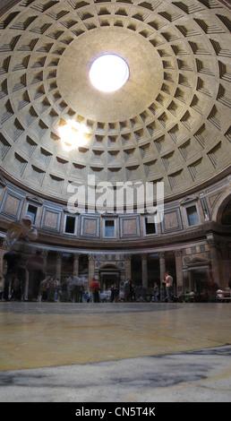 Italy Rome old town interior of Pantheon at Piazza della Rotanda - Stock Photo