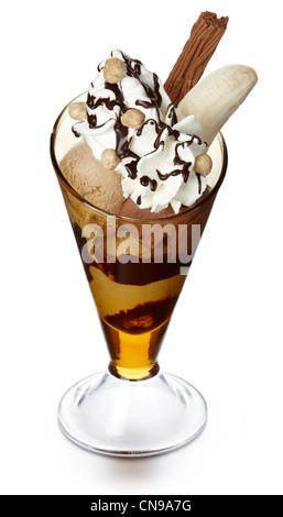 Special sundae ice cream - Stock Photo