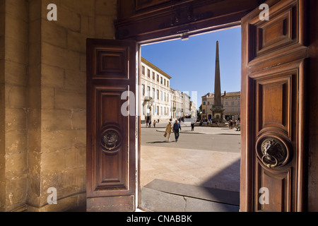 France, Bouches du Rhone, Arles, Place de la Republique - Stock Photo