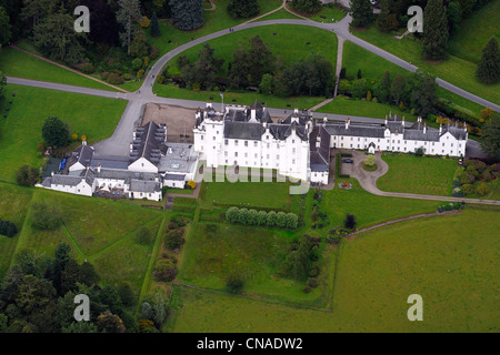 aerial view of blair castle stock photo, royalty free