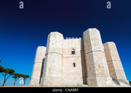 Italy, Puglia, Andria, Castel del Monte castle, listed as World Heritage by UNESCO - Stock Photo