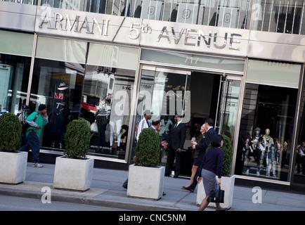 Armani shop fifth avenue manhattan new york city usa for Armani store nyc