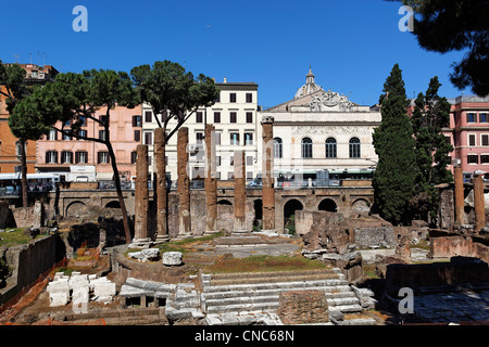 Italy, Lazio, Rome, historical center listed as World Heritage by UNESCO, ruins, Area Sacra di Largo Argentina - Stock Photo