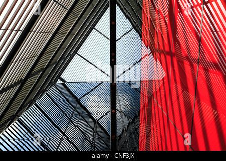 Abstract building lines, reflections and shadows - Stock Photo