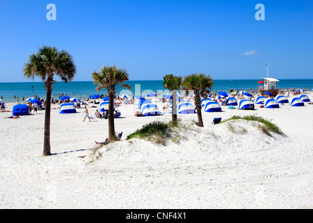 Clearwater Beach and resort area, west central gulf coast, Florida, USA - Stock Photo