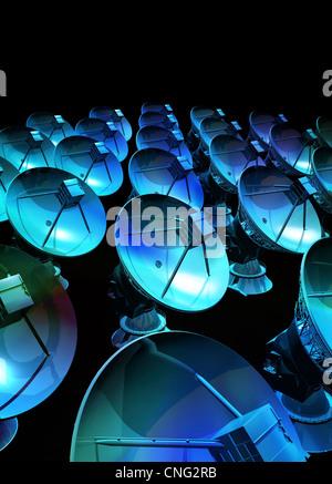 Satellite array  artwork - Stock Photo