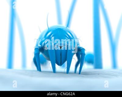 Dust mite  artwork - Stock Photo