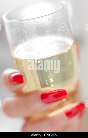 Glass of Champagne - Stock Photo