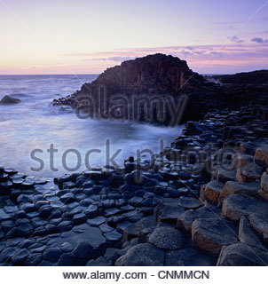 Rock formations on beach - Stockfoto
