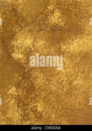 texture of a cement wall covered metallic paint, with gold spots. - Stock Photo