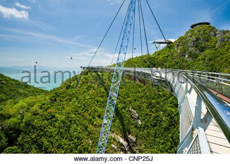 The SkyBridge on Gunung Machincang, Pulau Langkawi, Malaysia - Stock Photo