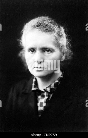 MARIE CURIE (1867-1934) Polish physicist who pioneered research on radio activity - Stock Photo