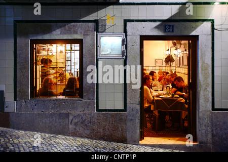 A Primavera do Jerónimo Restaurant, Bairro Alto, Lisbon, Portugal - Stock Photo