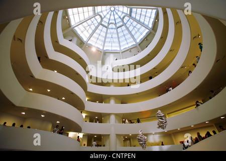 Solomon R. Guggenheim Museum, New York City, USA - Stock Photo