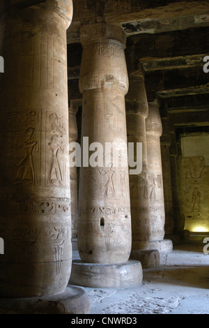 Funeral Temple of Pharaoh Seti I in Abydos, Egypt. - Stock Photo