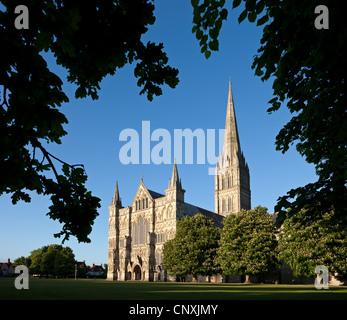 Salisbury Cathedral, Salisbury, Wiltshire, England. Spring (May) 2011. - Stock Photo