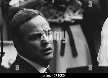 Actor Marlon Brando at the 1963 Civil Rights March on Washington. Aug. 28, 1963. - Stock Photo