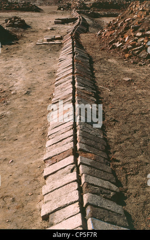 Pakistan - Punjab - Harappa, the archaeological area of the Indus Valley civilization. Drainage blanket. III millennium - Stock Photo