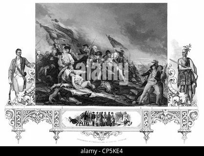 an analysis of the battle of bunker hill in the 18th century Death of general warren in the battle of bunker hill,  painting of the death of general warren at the battle of bunker hill engraving from the 18th century.