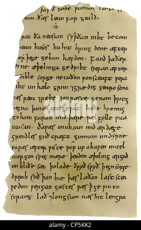 an analysis of the great anglo saxon epic beowulf The old english epic poem beowulf tells the story of a young geatish warrior who   when the monster dies, he sees a great treasure, but he leaves it there, only.