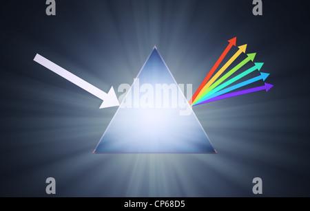 Conceptual prism illustration - creativity concept - Stockfoto